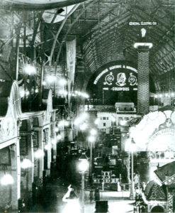 Columbia Exposition at the 1893 Chicago World Fair featuring Tesla's A/C and fluorescent lighting inventions