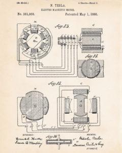 Tesla polyphase a/c generator